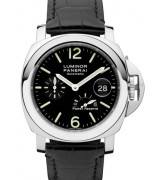 Panerai Luminor PAM00090 Automatic Watch Power Reserve-Black Dial