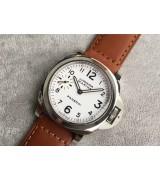 Panerai PAM113 Manual Handwound Watch - Brown Leather Strap