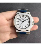 Patek Philippe Nautilus Swiss Cal.324 Automatic Watch White Dial