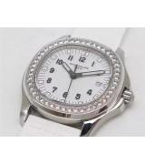 Patek Philippe Aquanaut Swiss Quartz Women Watch 5067 White Dial