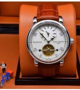 Patek Philippe Complication 325680 Dual Time Swiss Automatic Watch - White Dial
