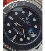 Rolex Yacht-Master II Swiss Automatic Watch-Black Dial with Dot Markers-Black Ceramic Bezel