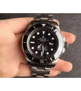 Rolex Sea Dweller DeepSea Swiss 3135 Automatic Watch Black Dial