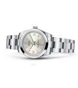 Rolex Oyster Perpetual 177200 Swiss Automatic Watch Silver Dial 31MM