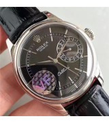 Rolex Cellini Date Swiss 3165 Automatic Watch Black Dial 39MM