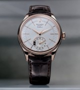 Rolex Cellini Dual Time Swiss Automatic Watch Brown Leather Strap