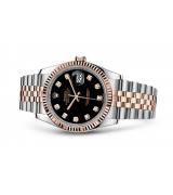 Rolex Datejust 116231-0056 Swiss Automatic Rose Gold Black Dial Jubilee Bracelet 36MM