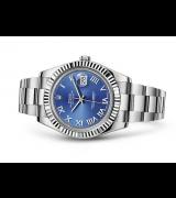 Rolex Datejust II Swiss Automatic Watch Royal Blue Oyster Bracelet 41MM