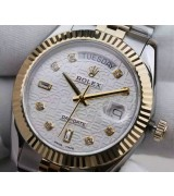 Rolex Day-Date Swiss Automatic Watch 18K Gold Midlink Jubilee Bracelet