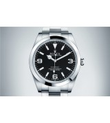 Rolex Explorer Swiss 3132 Automatic Watch Black Dial