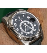 Rolex Sky-Dweller Automatic Watch Stainless Steel Black Dial