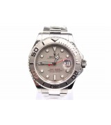 Rolex Yachtmaster II Swiss ETA-Silver Grey Dial White Dot markers-Stainless Steel Oyster Strap