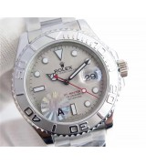 Rolex Yacht-Master 2836 Automatic Watch Silver Gray Dial