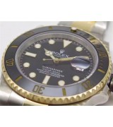 Rolex Submariner Swiss Automati Watch-Black Luminous Dial-Stainless Steel Strap
