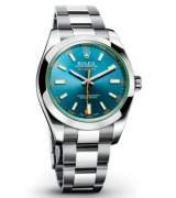 Rolex Milguass 116400GV-1 Automatic-Blue Dial Index Hour Markers-Stainless Steel Oyster Bracelet