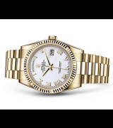 Rolex Day-Date 118238 Swiss Automatic Watch White Dial 36MM