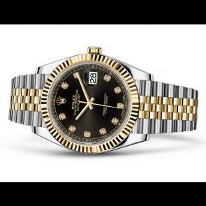 Rolex Datejust Swiss 3235 Automatic Watch Black Dial Jubilee Bracelet 41MM
