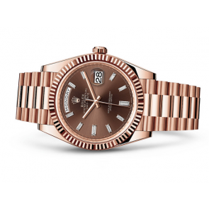 Rolex Day-Date 228235 Swiss Automatic Watch Brown Dial Presidential Bracelet 40MM
