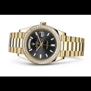 Rolex Day-Date 228398TBR Swiss Automatic Watch Black Dial Presidential Bracelet 40MM