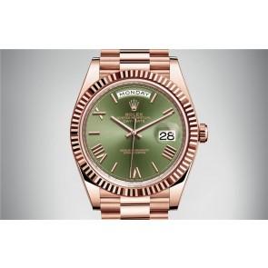 Rolex Day-Date 228235-0025 Swiss Automatic Watch Green Dial Presidential Bracelet 40MM