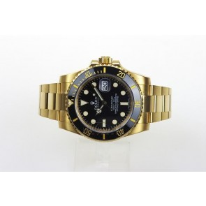 Rolex Submariner Swiss Automatic Watch Full Gold Black Dial 116618