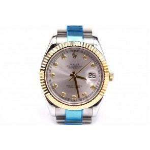 Rolex Datejust Automatic Watch Gray Dial Bi Tone Bracelet