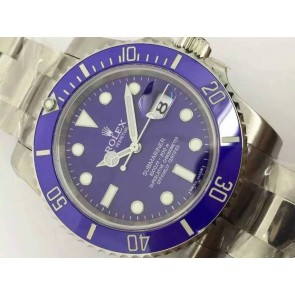 Rolex Submariner Automatic 116610LB-Luminous Blue Dial-Stainless Steal Strap