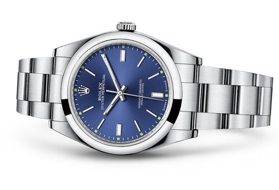 Rolex Oyster Perpetual 114300 Swiss Automatic Watch Blue Dial 39MM