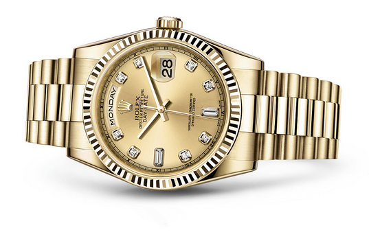 Rolex Day-Date 118238 Swiss Automatic Watch Golden Dial Presidential Bracelet 36MM