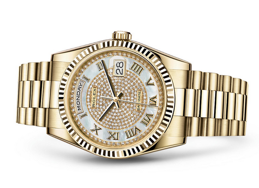 Rolex Day-Date 118238 Swiss Automatic Watch Diamonds Dial 36MM