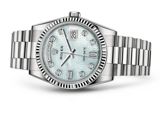 Rolex Day-Date 118239 Swiss Automatic Watch Ice-Blue Dial 36MM
