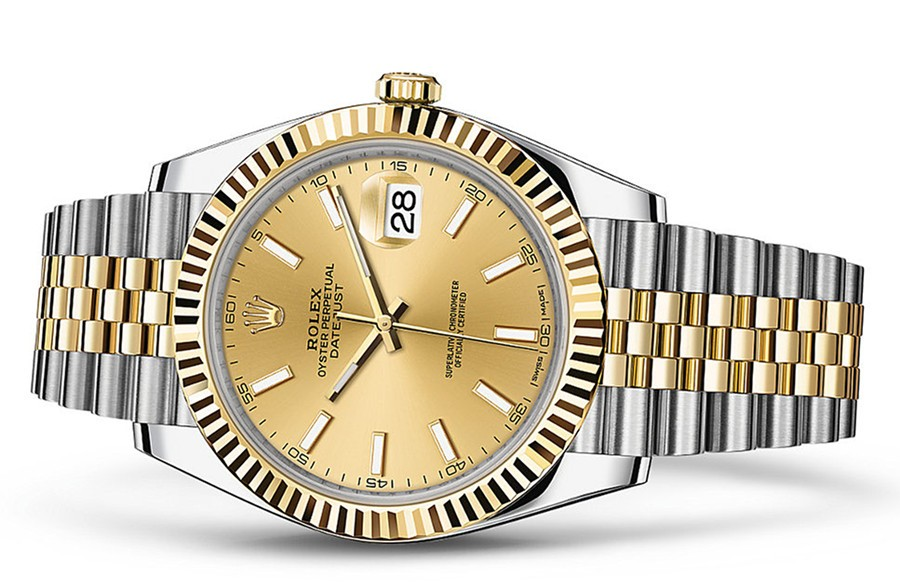 Rolex DateJust II 126333-0010 Swiss 3235 Automatic Watch Golden Dial 41MM