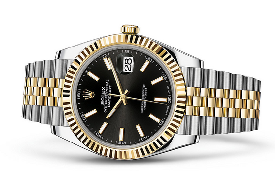 Rolex Datejust 126333-14 Swiss Automatic Watch Black Dial Jubilee Bracelet 41MM