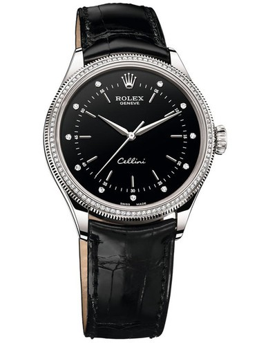 Rolex Cellini 2015 Swiss Automatic Watch Diamonds Bezel 39mm