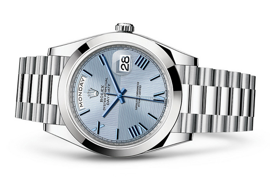 Rolex Day-Date 228206 Swiss 3235 Automatic Watch Ice-Blue Dial Presidential 40MM