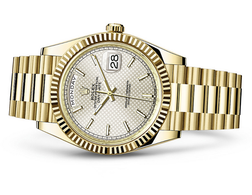 Rolex Day-Date 228238-0008 Swiss 3255 Automatic Watch Gold Dial Presidential 40MM