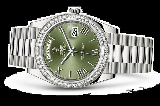 Rolex Day-Date 228349 Swiss Automatic Watch Diamonds Bezel 40MM