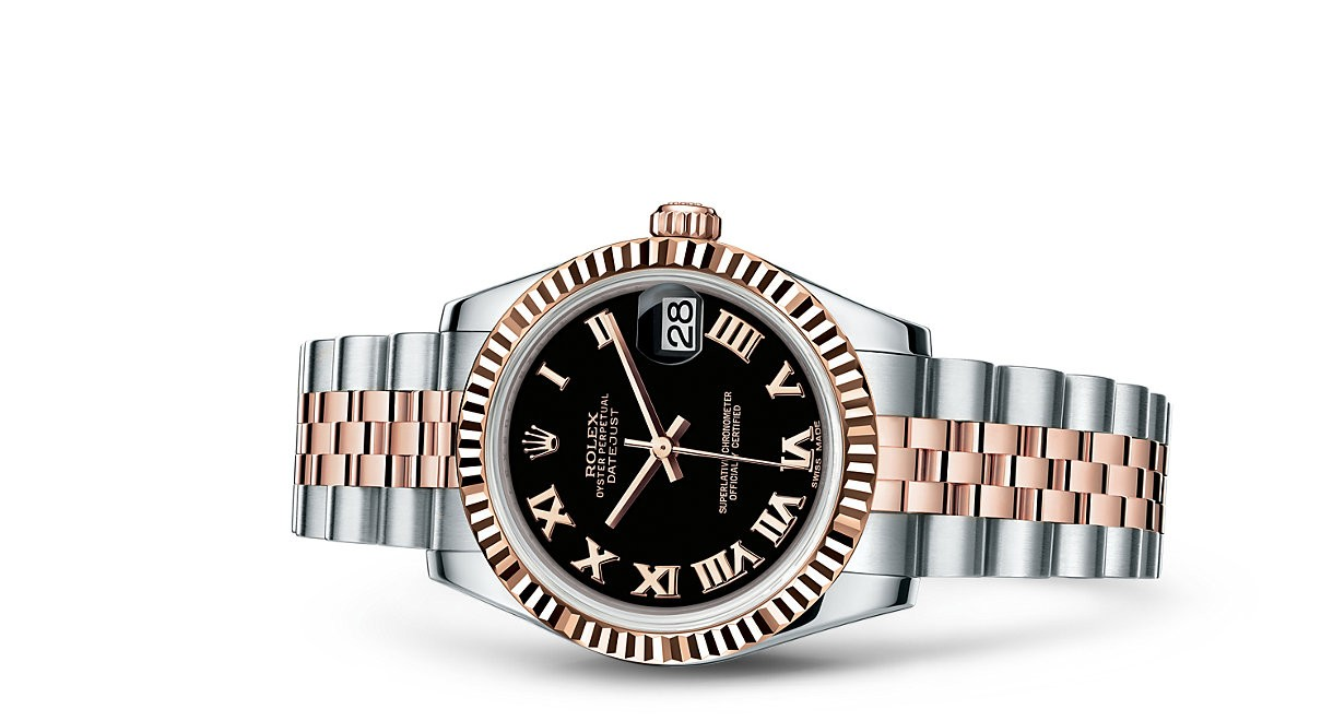Rolex Datejust Ladies 178271-0065 Swiss Automatic Black Dial 31MM