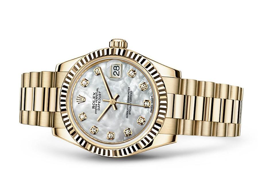 Rolex Datejust Ladies 178278-0010 Swiss Automatic Yellow Gold MOP 31MM