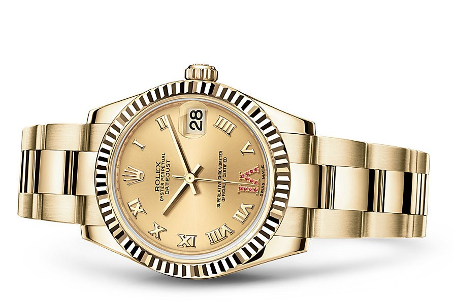 Rolex Datejust Ladies 178278-0133 Swiss Automatic Gold Dial 31MM