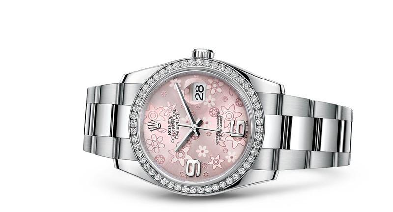Rolex Datejust 116244-0007 Swiss Automatic Watch Flower Dial 36MM