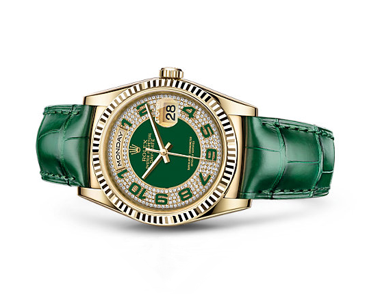 Rolex Day-Date Swiss Automatic Watch Green Bracelet 36MM