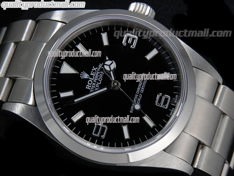Rolex Explorer II 40MM Swiss GMT Hour Automatic Watch-Black Dial White Dot markers-Stainless Steel Oyster Bracelet