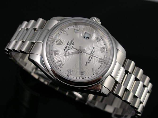 Rolex Oyster Perpetual E743 Automatic-Silver Dial Number Markers-Stainless Steel Strap