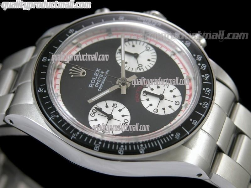 Rolex Daytona Paul Newman Chronograph-Black Dial White Subdials-Black Bezel
