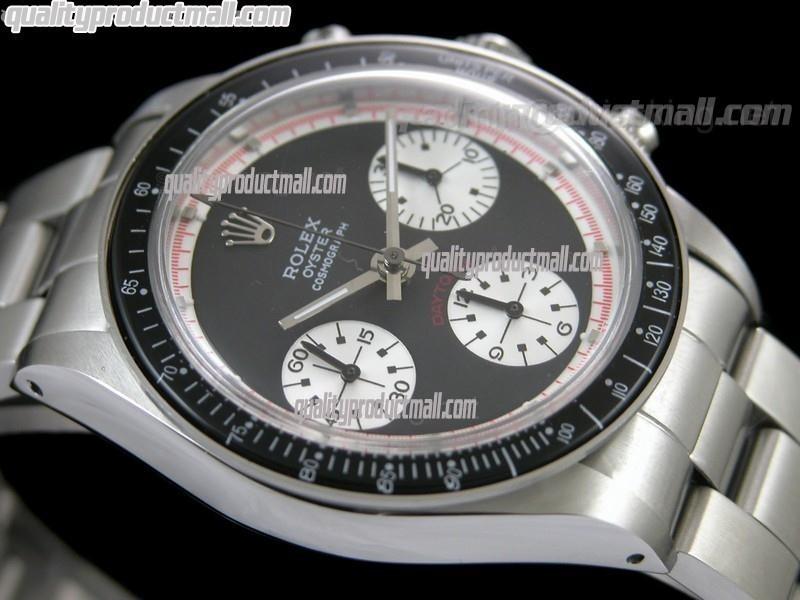 Rolex Daytona Paul Newman Chronograph-Black Dial White Subdials-Black Bezel