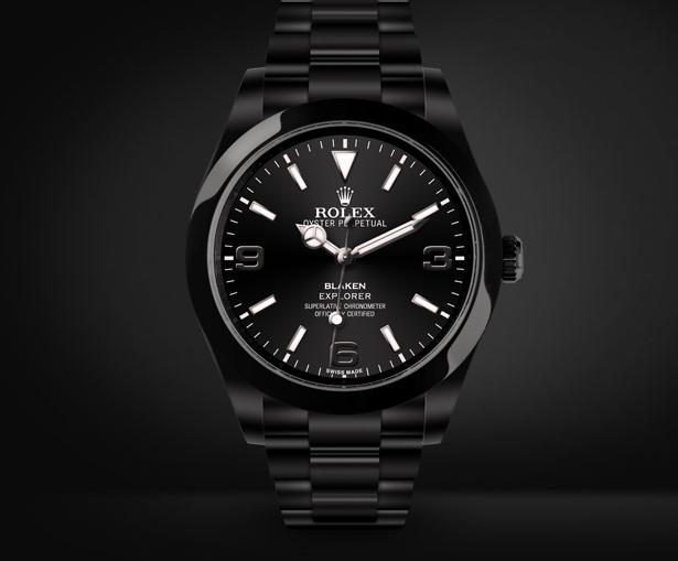 Explorer Automatic Watch Black Dial By Blaken