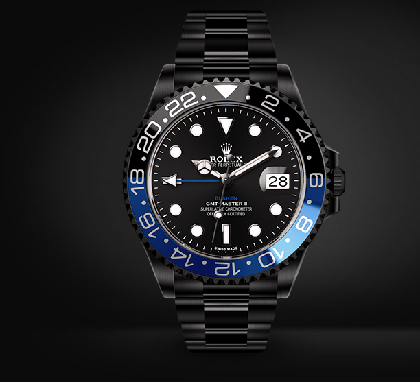 GMT-Master II Batman Automatic Watch Black Dial By Blaken