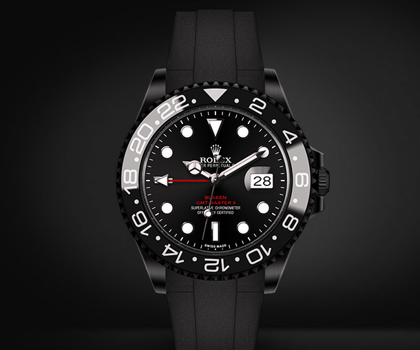 GMT-Master II Automatic Watch Black Dial By Blaken