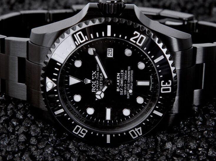 Sea-Dweller Automatic Watch Black Dial By Blaken